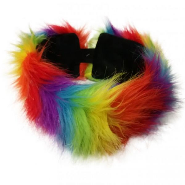 Headband rainbow plush colors
