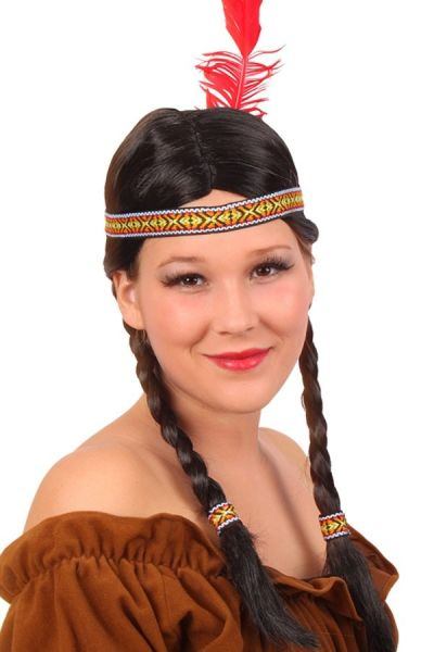 Wig Indian fast spear with braids