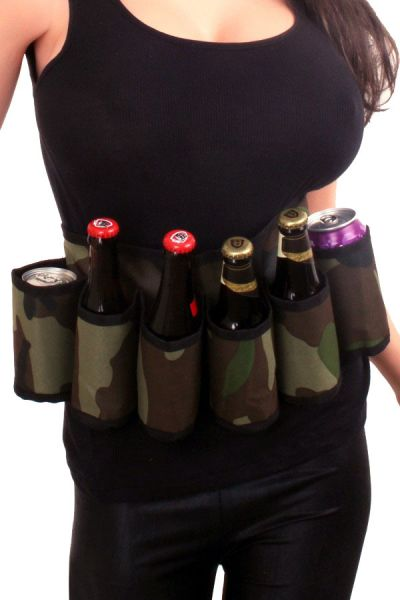 Military drink belt camouflage print