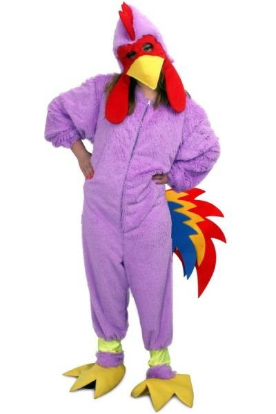 Fancy dress pink crazy chicken plush child