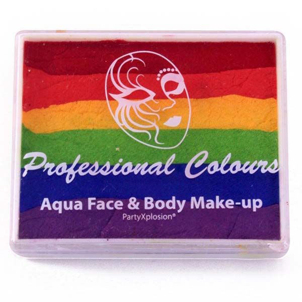One stroke face paint Red Orange Yellow Green Blue Violet