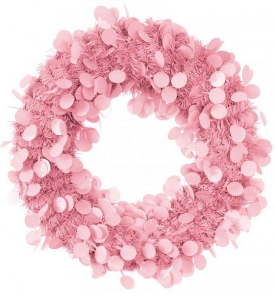 Door wreath 45 cm Pink