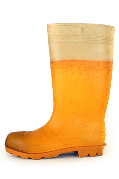 Rainboots Beer print men