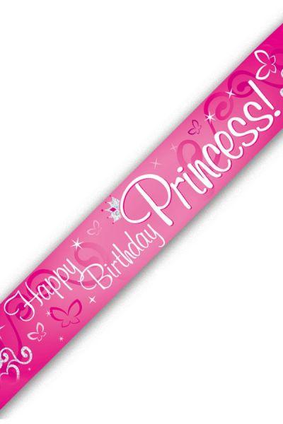 Banner Happy Birthday princess