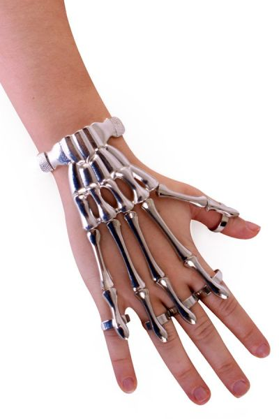 Bracelet skeleton fingers