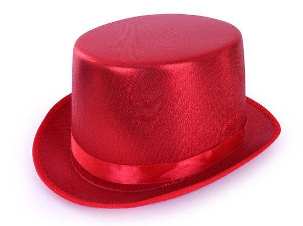High hat metallic red