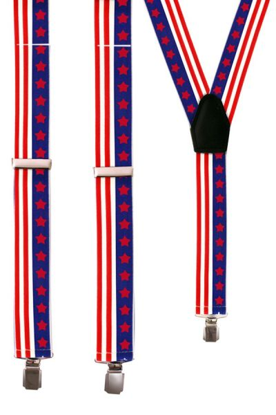 Suspenders stars stripes USA America