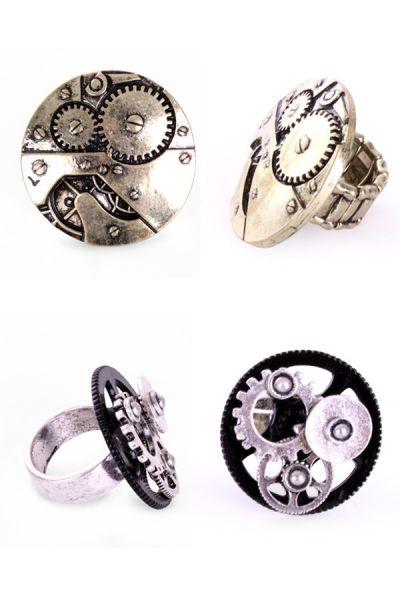 Pair of Steampunk rings