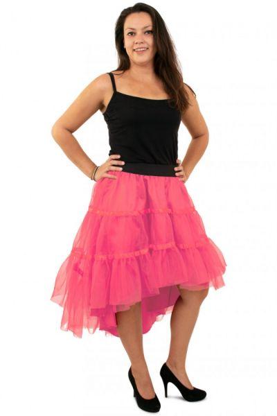 Pink petticoat sloping