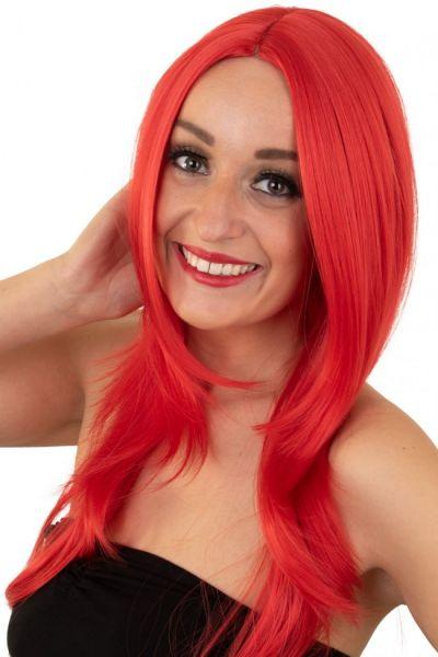 Ladies wig red washable