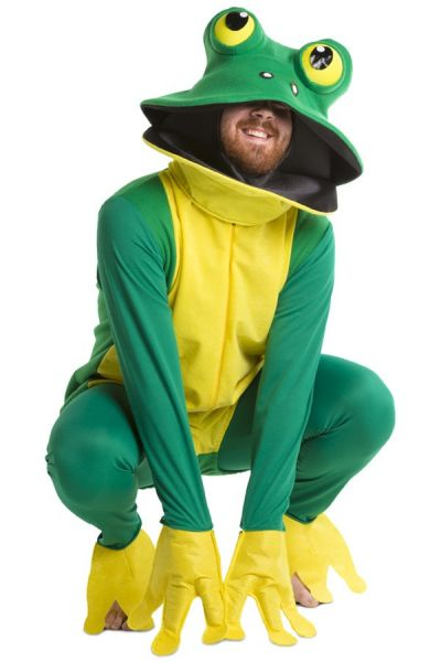 Animal suit green frog costume
