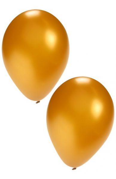 Golden helium balloons