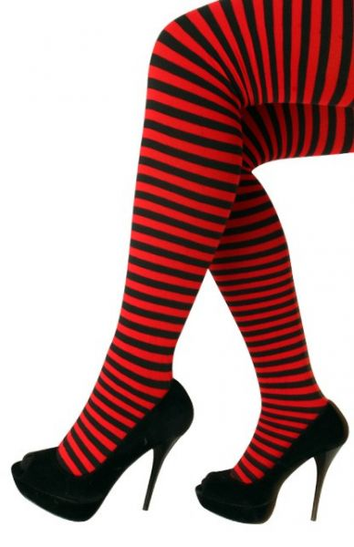 Panty stripe red black