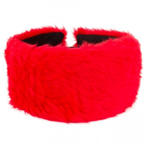 Headband red plush
