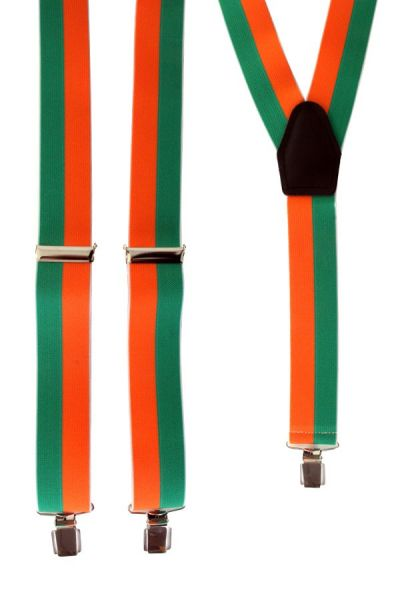 Suspender orange green striped