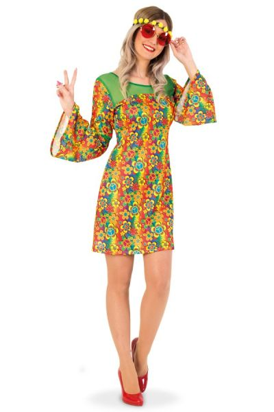 Colorful flowers Hippie Dress