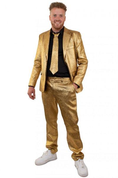 Gold flashy metallic disco costume