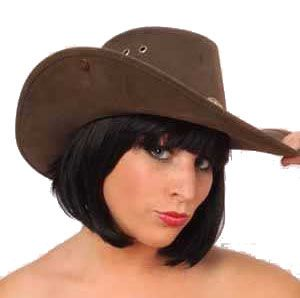 Cowboy hat Nevada leatherlook