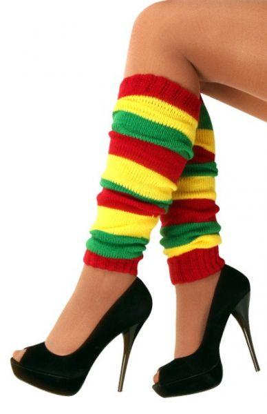 Leg warmers red yellow green