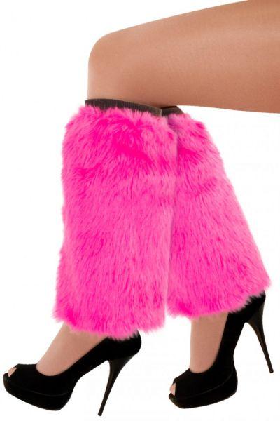 Leg warmers pink plusche