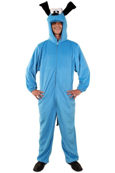 Funny dog costume blue plush