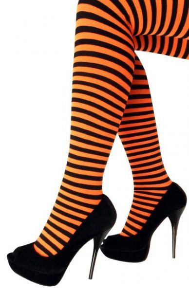 Panty orange black striped