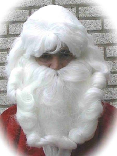 Santa hair set wig beard and mustache