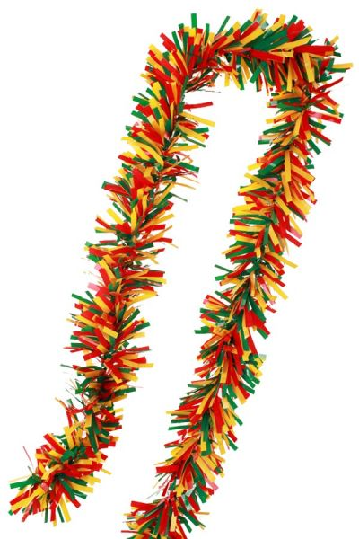 PVC foil turn garland red yellow green fireproof