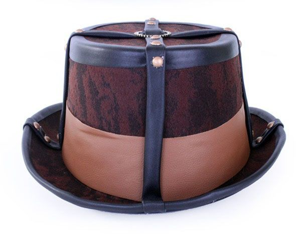Steampunk hat brown decorative