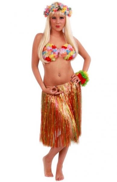Hawaiian skirt briefly colored