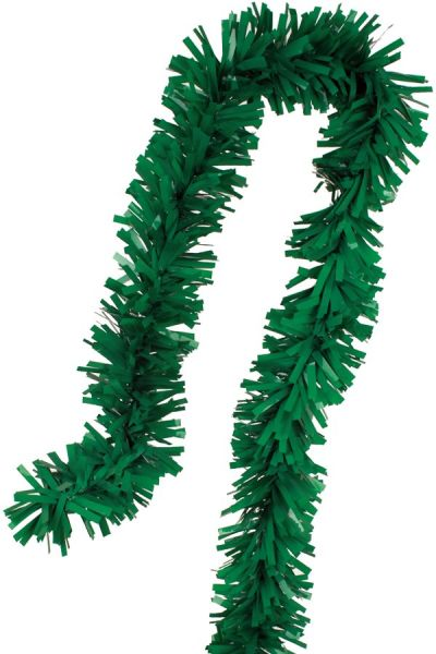 Foil twist garland green