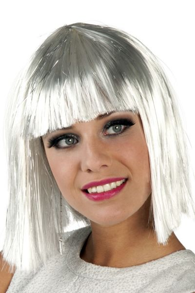 Wig Glamor white with silver shades