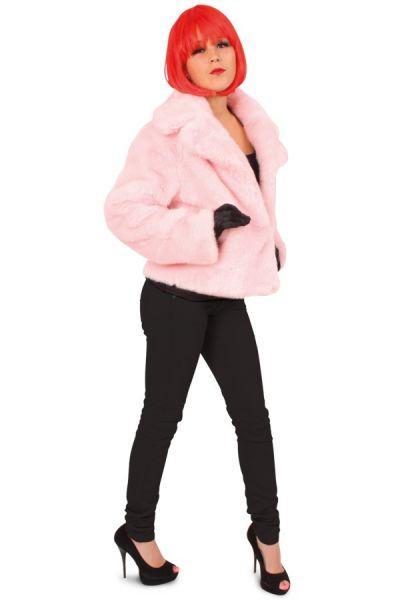 Wrong pink ladies fur coat