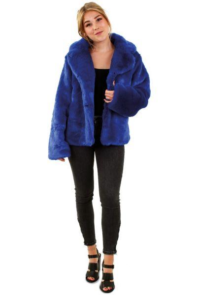 Wrong dark blue ladies fur coat