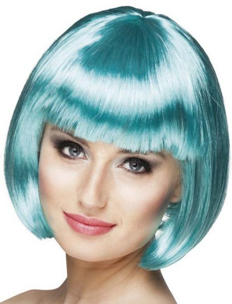 Ladies wig Bobline Turquoise