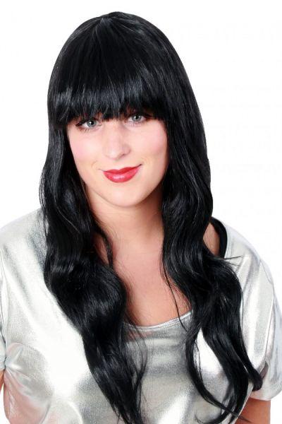 Long style hair ladies wig black sensation