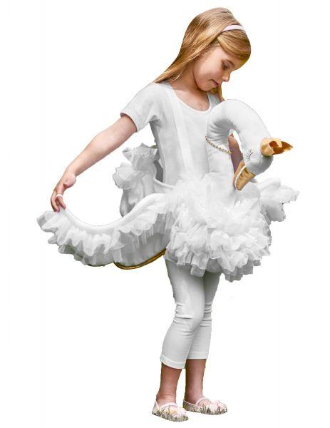 Childs Travis Ride On Swan Costume Boys Girls Animal Bird Fancy Dress