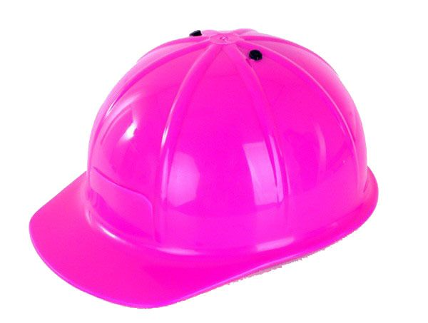 Construction helmet work helmet pink adjustable