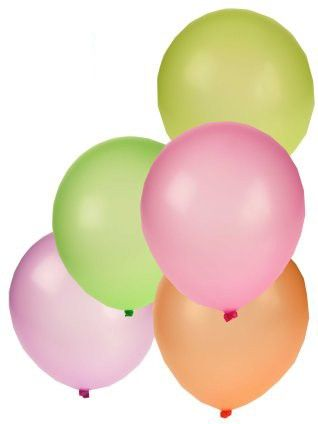 Balloons 50 x assorted colors NEON FLUOR 10 inch