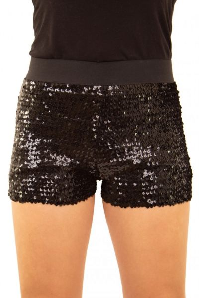 Hotpants with sequins black