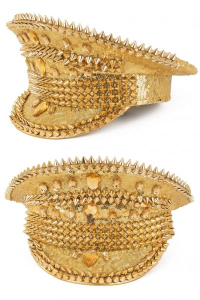 Shiny Bling spikes gold cap