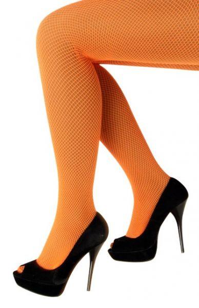 Net tights fluo orange