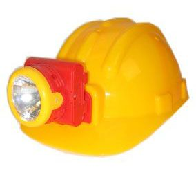 Construction helmet with lamp