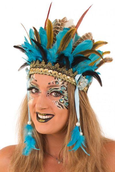 Indians feather headdress Wichita