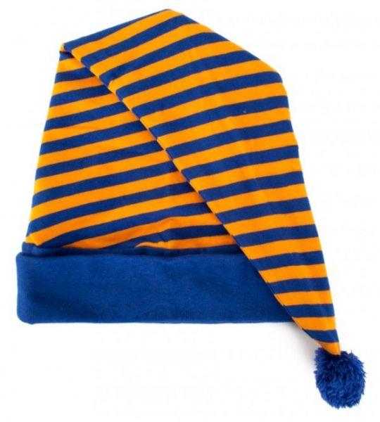 Sleeping hat orange blue striped