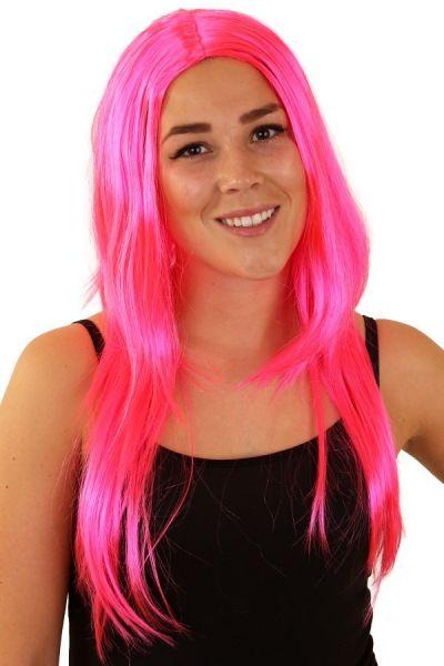 Wig standard long pink