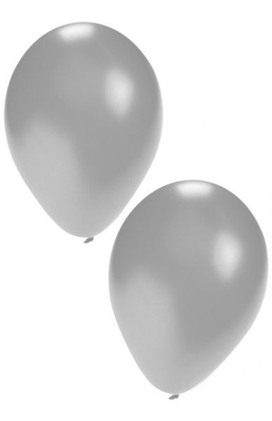 Silver helium balloons