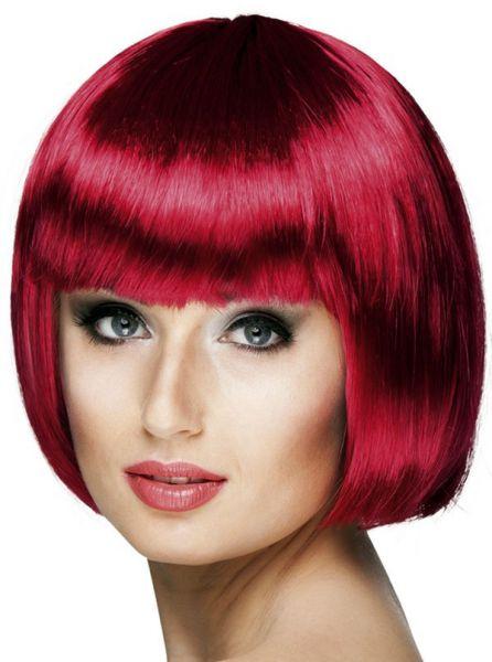 Ladies wig Bobline Ruby red
