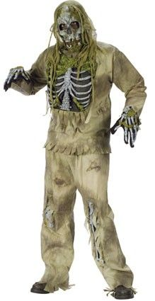Halloween creepy zombie outfit