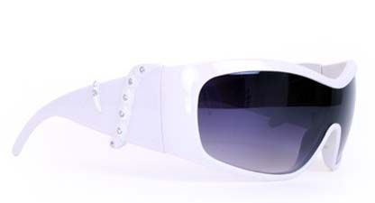 Popstar glasses white with Strass
